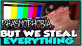Phasmophobia but we steal legit EVERYTHING…. (Phasmophobia VR)