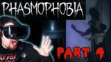 GHOST CHASES US OUT OF THE HOUSE! BIGGEST SCARE YET 😱   Phasmophobia Part 4   VR HORROR GAME