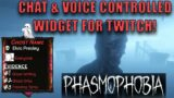PHASMOPHOBIA|| Interactive Evidence Tracker For Twitch! Chat & Voice Controlled!