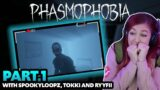 This was TERRIFYING   Cahlaflour Phasmophobia with SpookyLoopz, Tokki and RyyFii (Part 1)