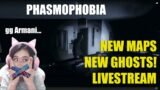 Phasmophobia – New Maps and New Ghosts Livestream Audrey and Gang