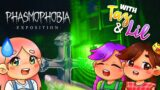 i played the new PHASMOPHOBIA UPDATE with taz and lil! 💀