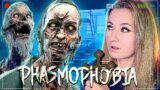 Играю одна против страшного призрака! // PHASMOPHOBIA